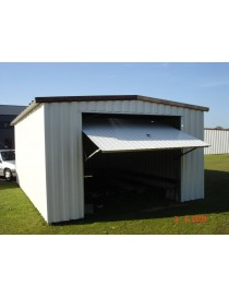 Garage métallique simple pente