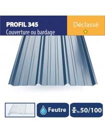 Tôle couverture 345 - Bleu ardoise