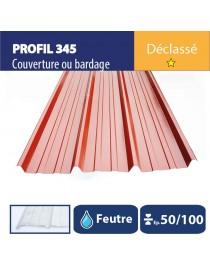 Tôle couverture 345 Brun rouge REG