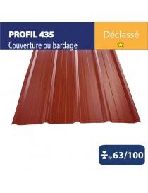 Tôle couverture 435  Brun rouge