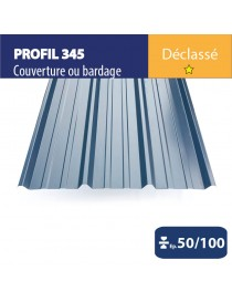 Tôle couverture 345 Bleu ardoise